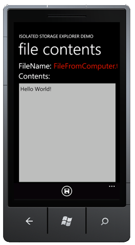File Contents from Desktop