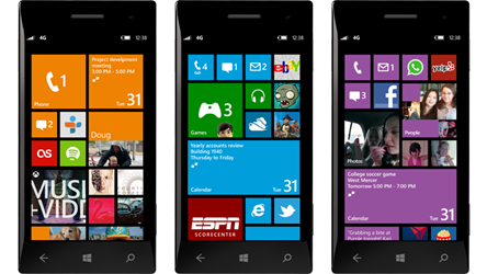 Windows Phone 8 Startbildschirm