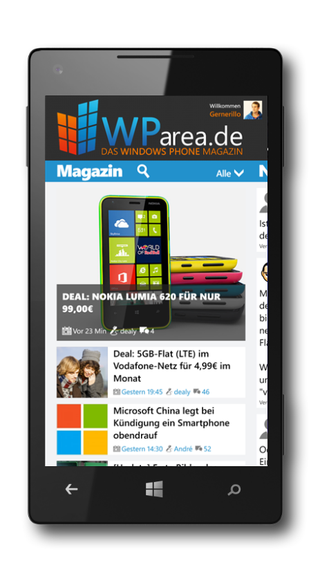 WParea.de App Screenshot