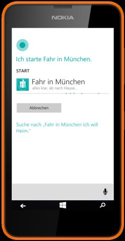 Fahr in München und Cortana